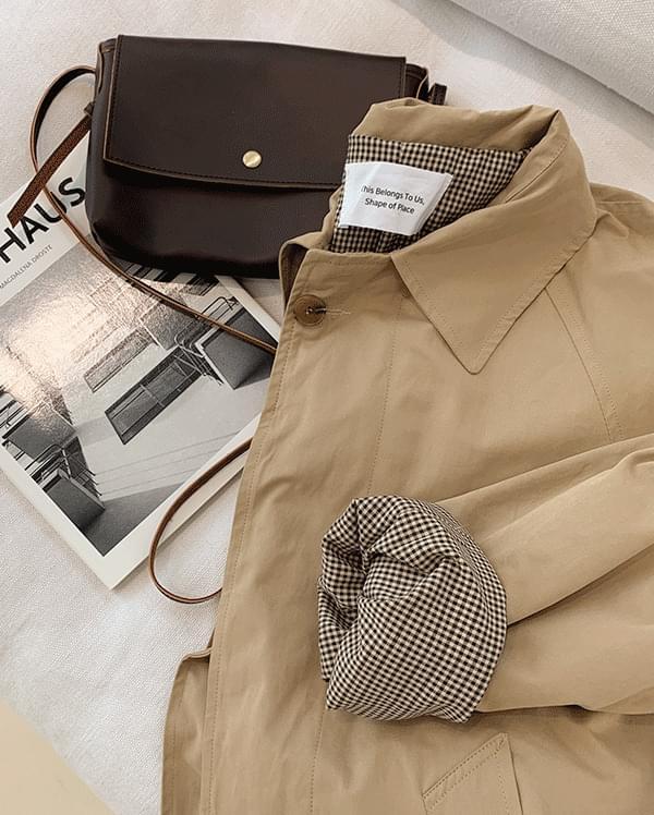 單排扣大衣