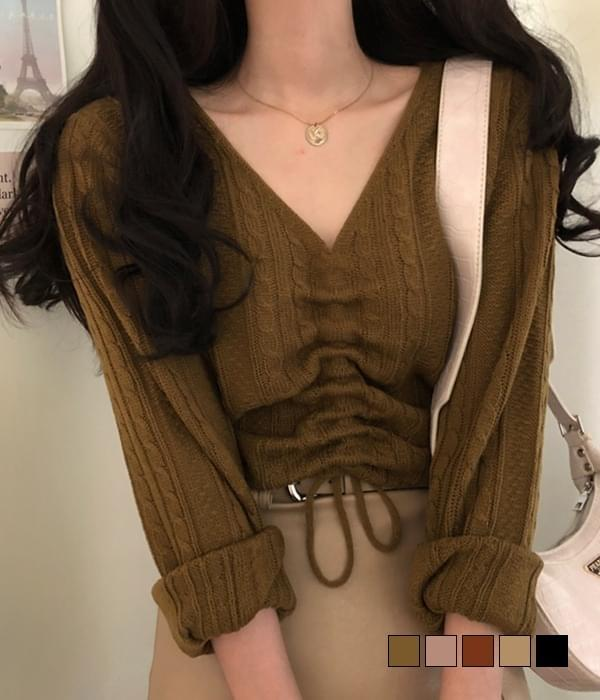 Muel cable string ribbed knit 針織衫