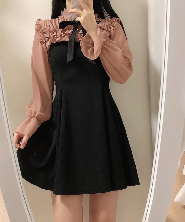 Bianne frill ribbon dress