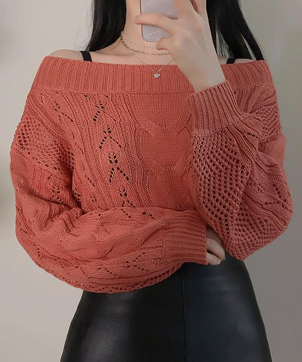 Jimin Twist Shoulder Knit