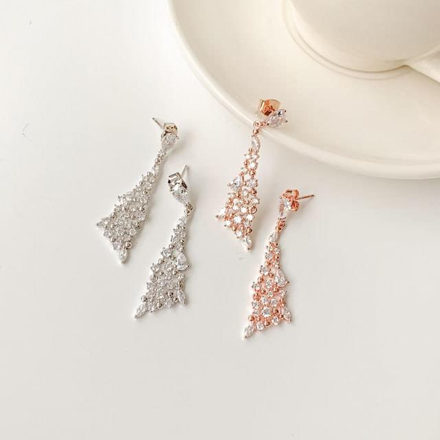Tri Queens silver925 drop earrings