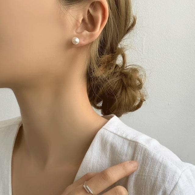 Moss Simple Pearl Cubic 3-piece Set Earring