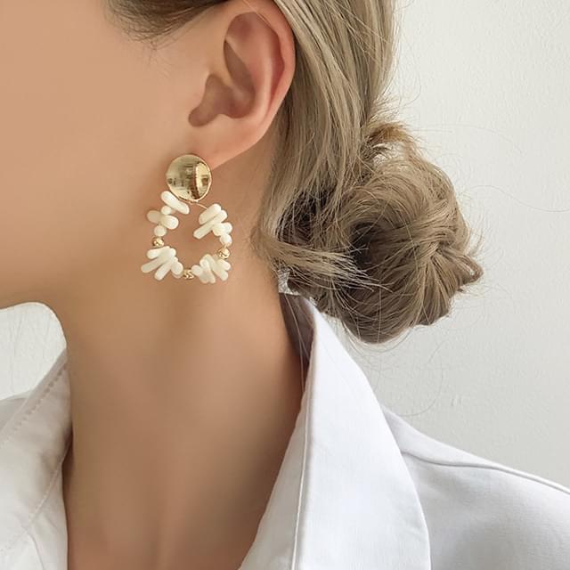 韓國空運 - Round Gold Homaika Barnes Earrings 耳環