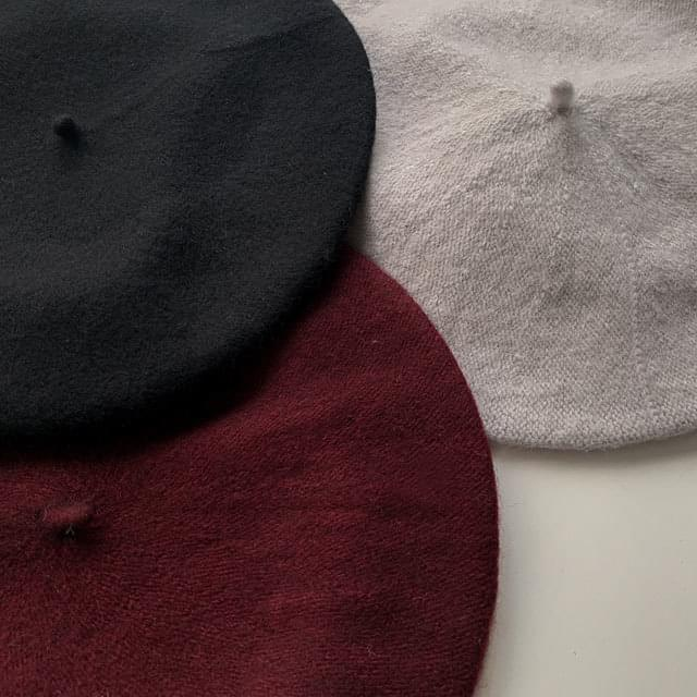 Fleece tap beret 6color