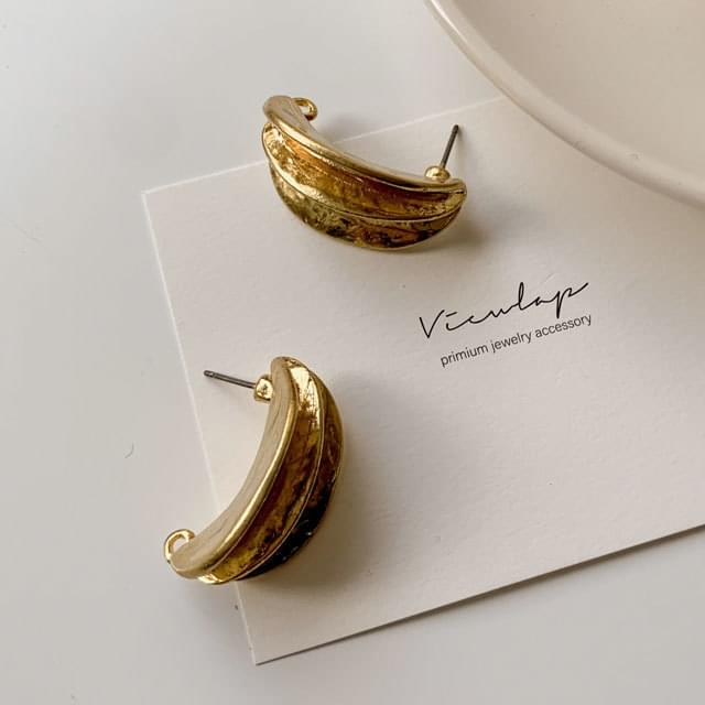 韓國空運 - Vintage half bold earrings 耳環