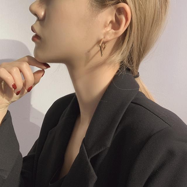 韓國空運 - Lupine Slim Square Ring Earrings 耳環