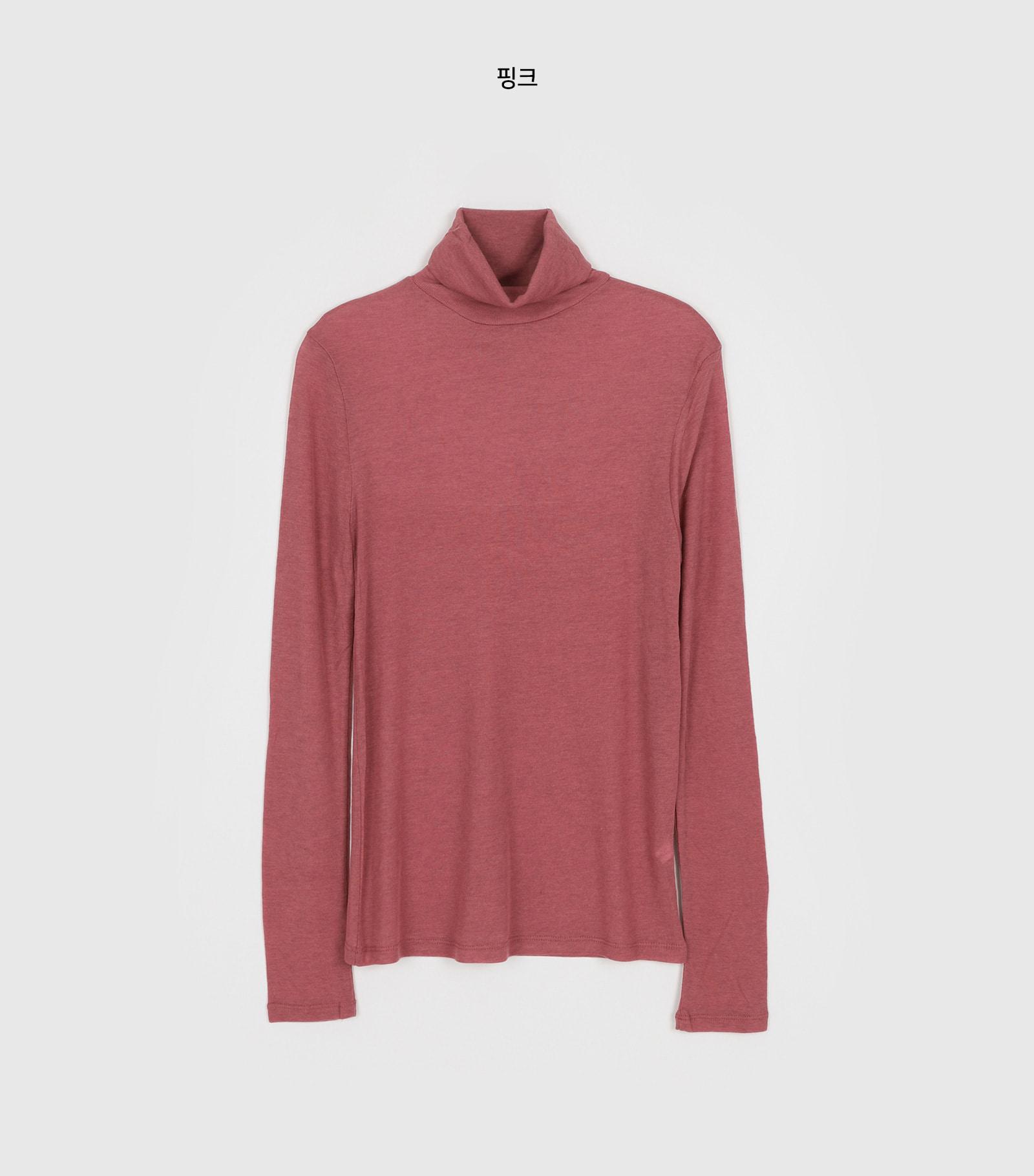 Useful slim ribbed turtleneck T-shirt