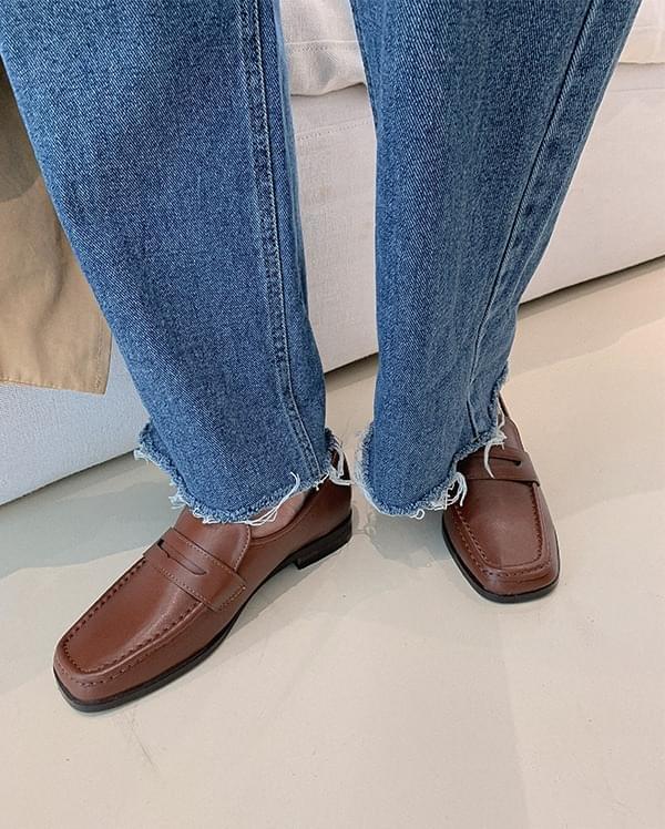 Bay stitch classic loafers