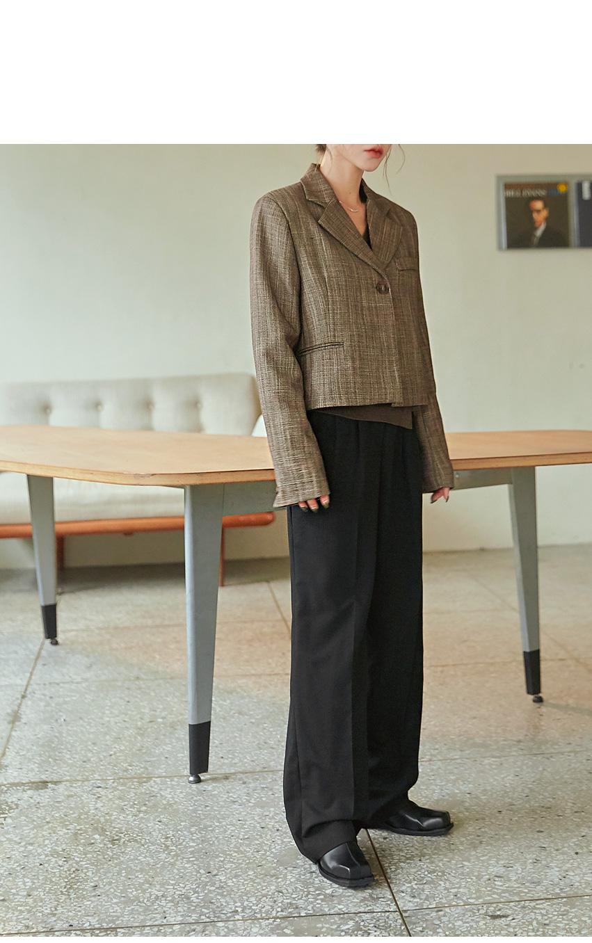 Crop Heathered Jacket