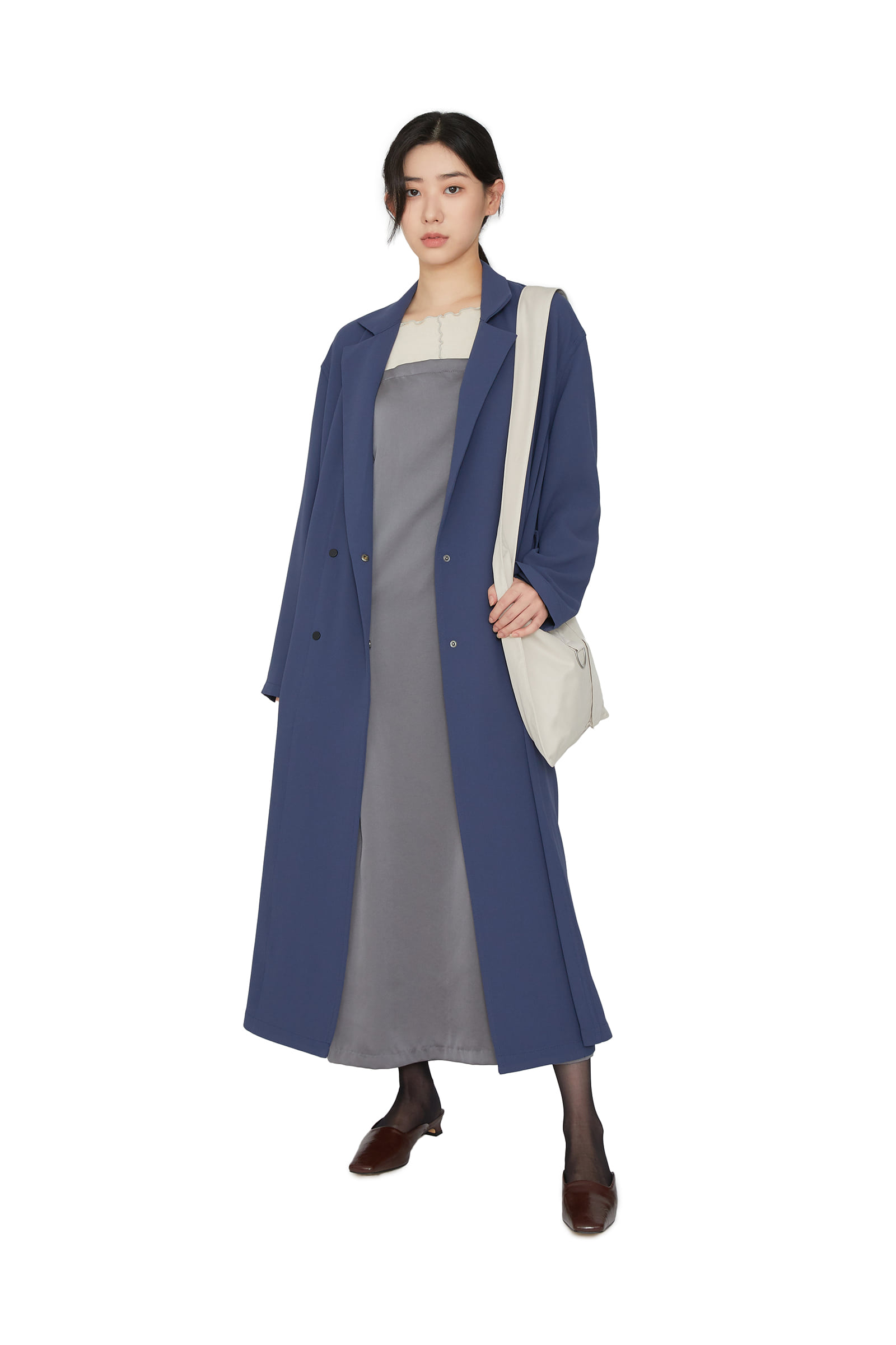 Modern smooth trench coat