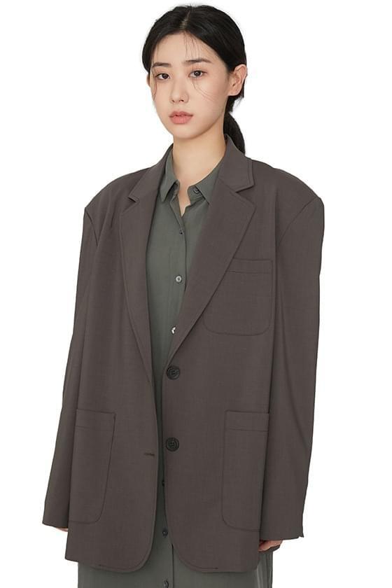 Fami pocket patch single jacket