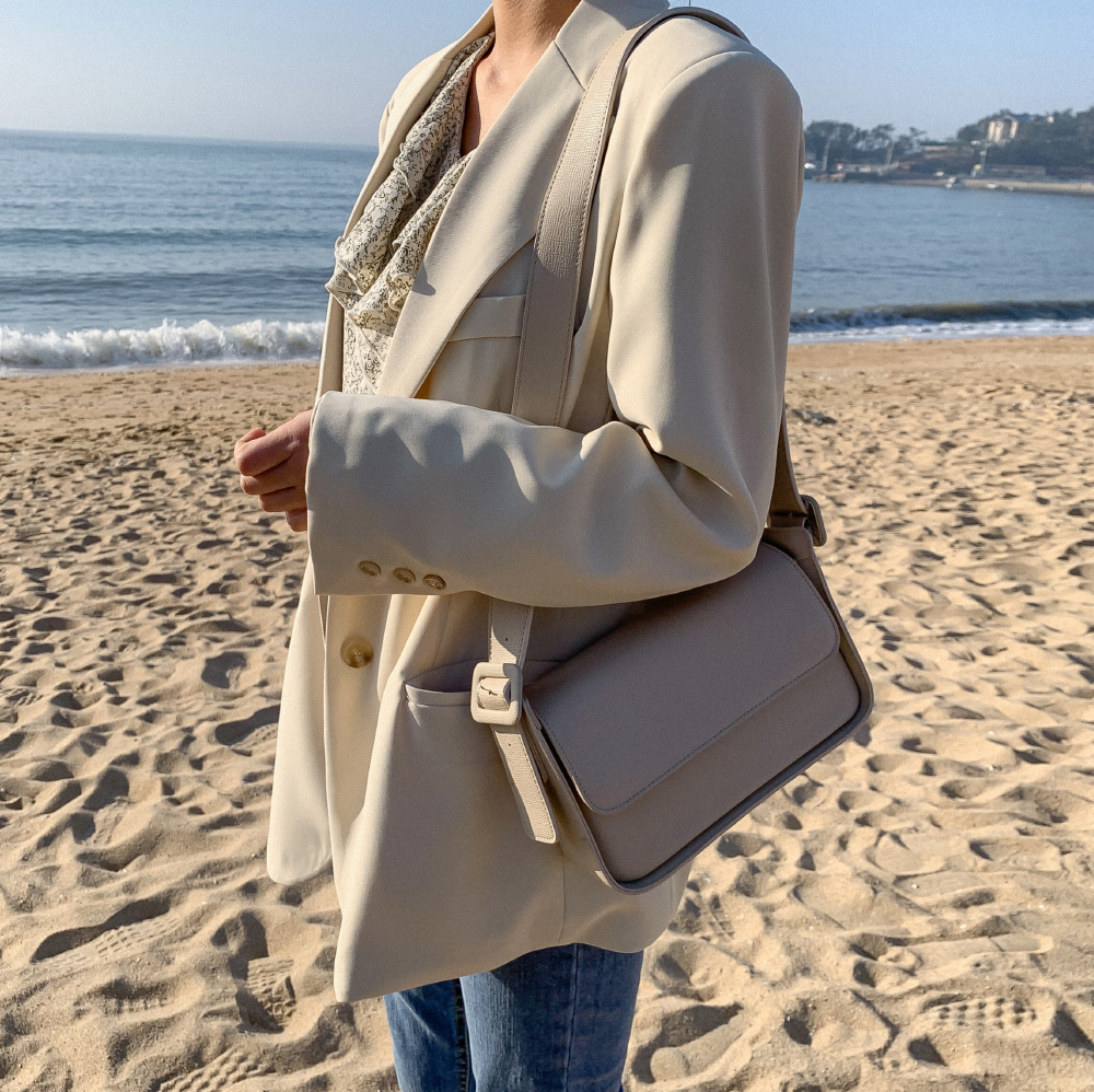 Classic Line Leather Square Bag