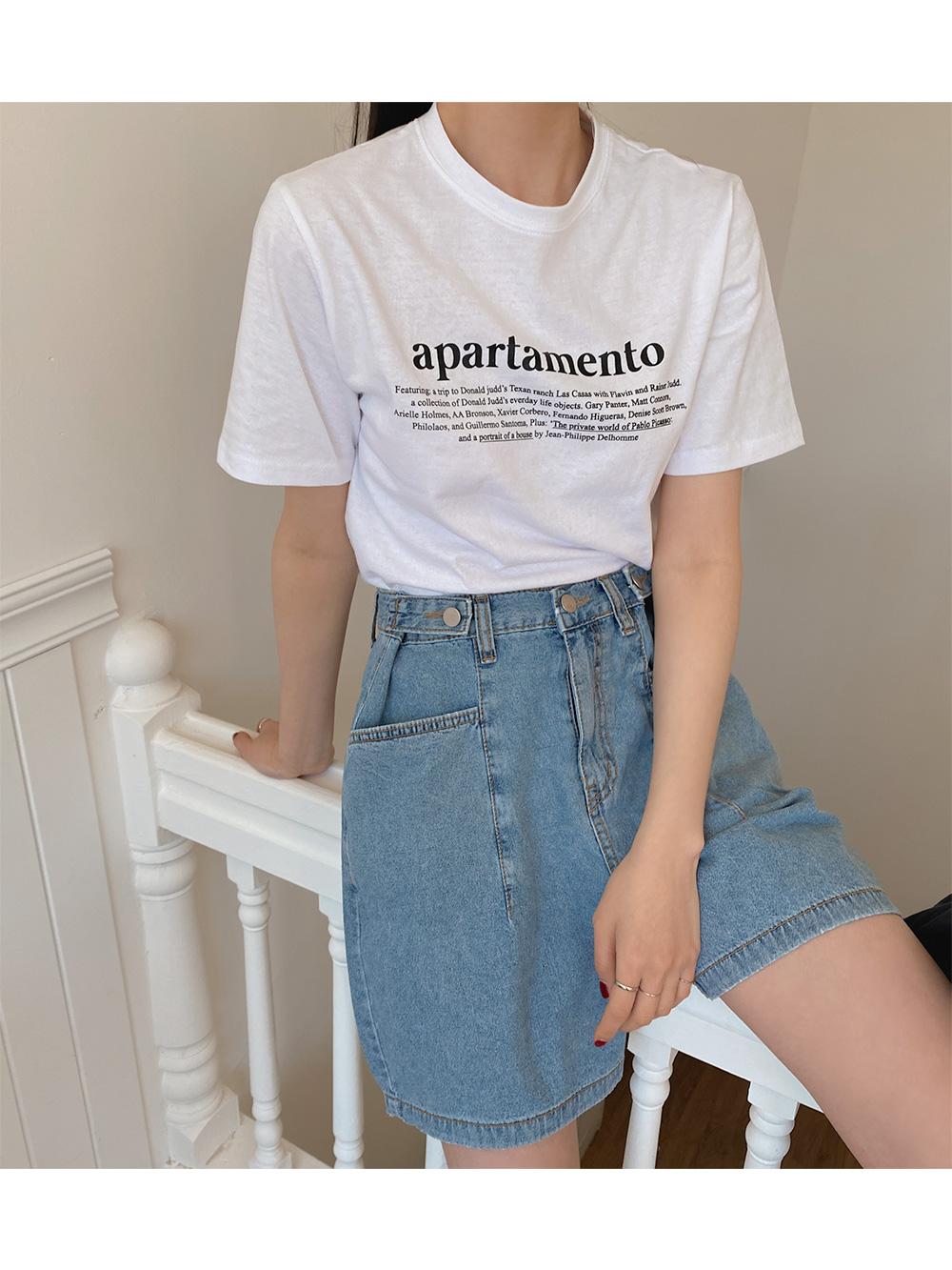 Mentor lettering half t-shirt