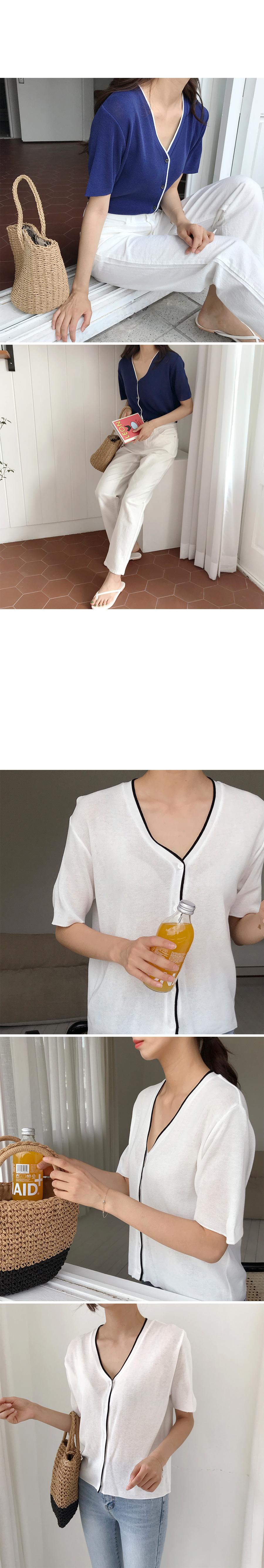 Line color cardigan