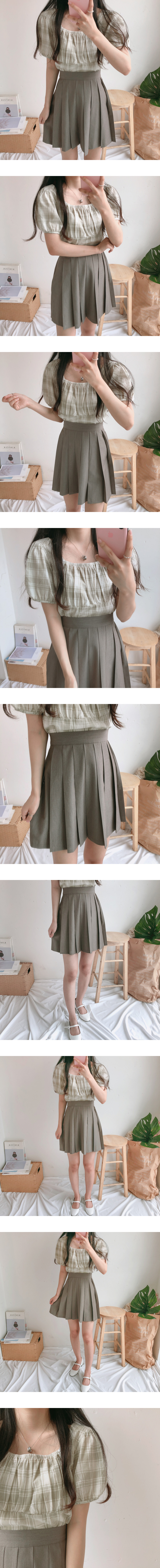 Wehas Check Two Way Short Sleeve Blouse