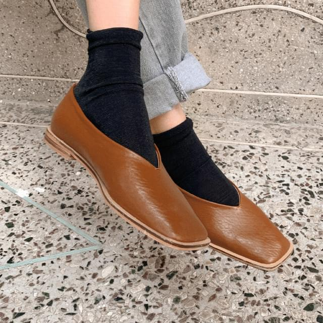 Simple Daily Girly Flat Shoes