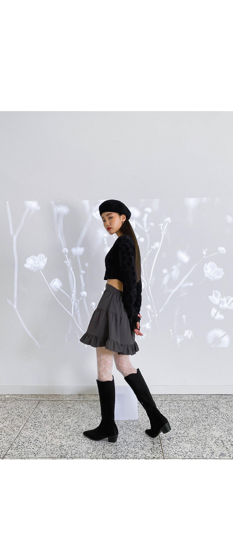 Frill L-L mini skirt