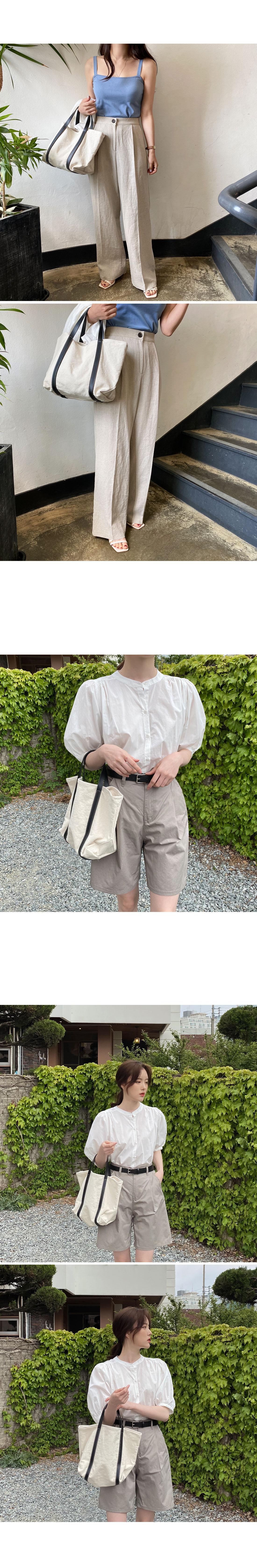 Roman tote and shoulder cotton bag
