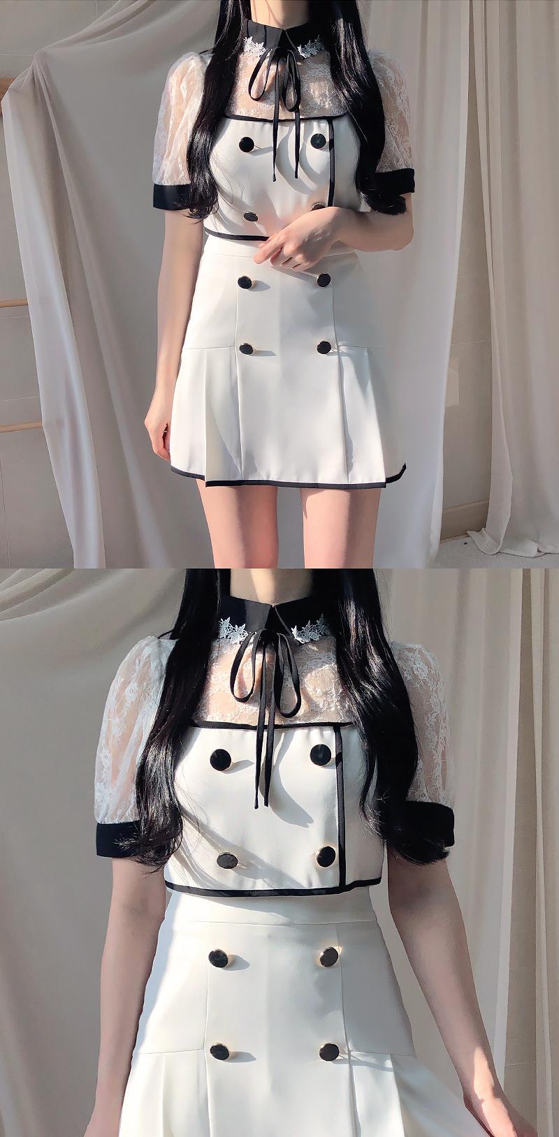 Hera Double Button Skirt Pants