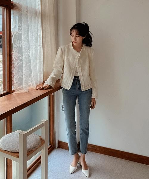 韓國空運 - 50 slim-fit denim trousers 牛仔褲