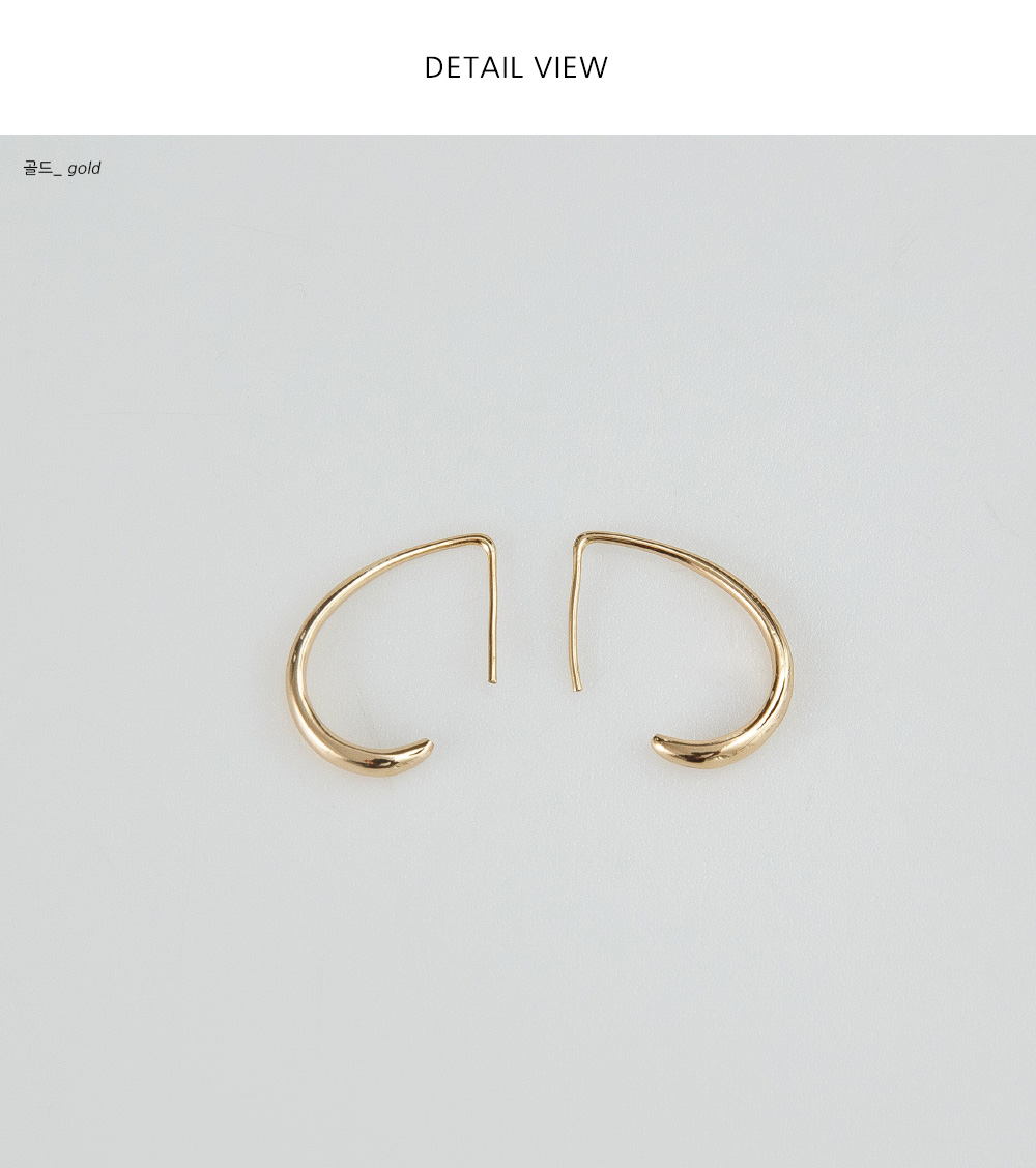 simple slim shape earring