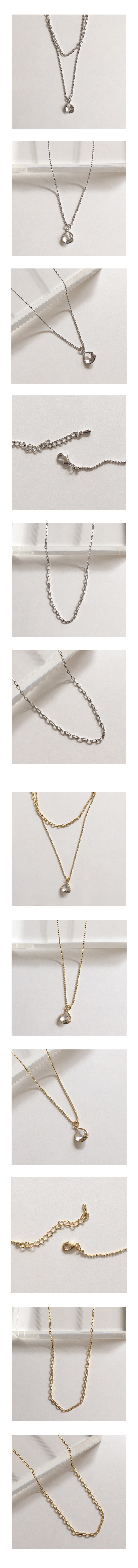 two chain necklace set