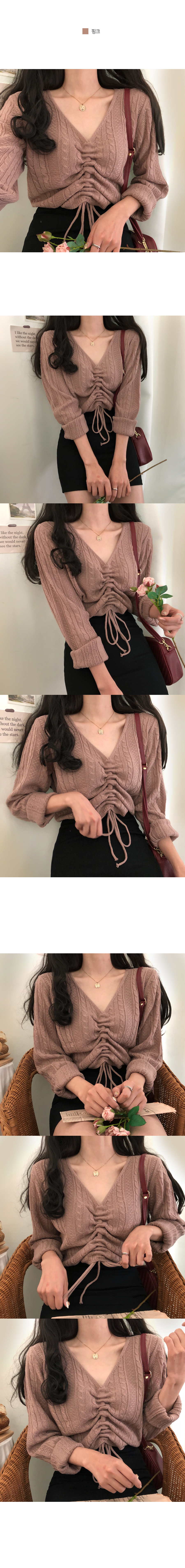 Muel cable string ribbed knit