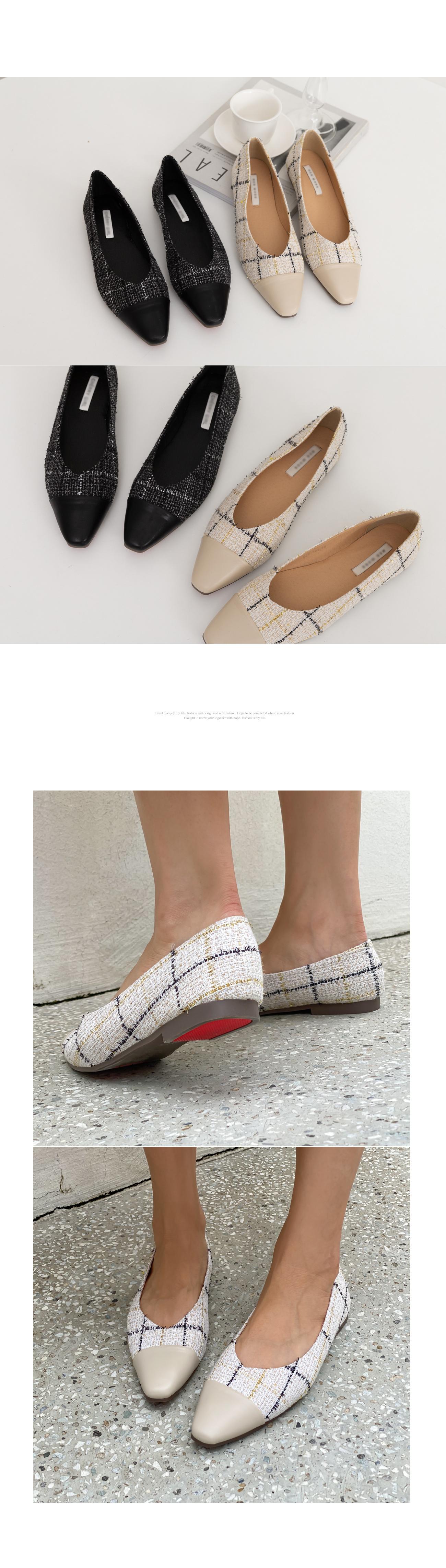 Tweed Flat Shoes #86277