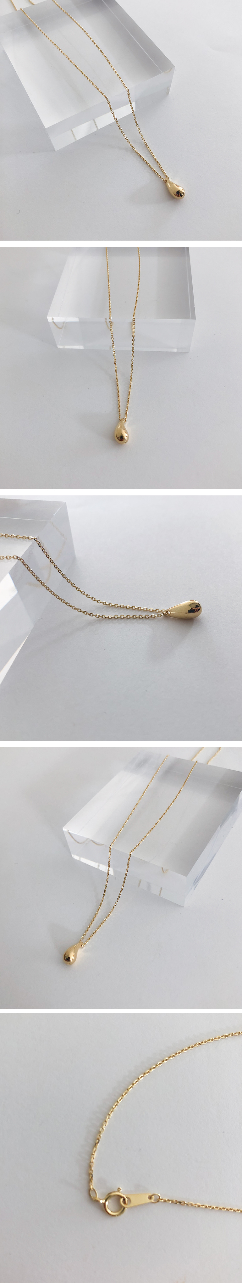 (silver925) rain drop necklace