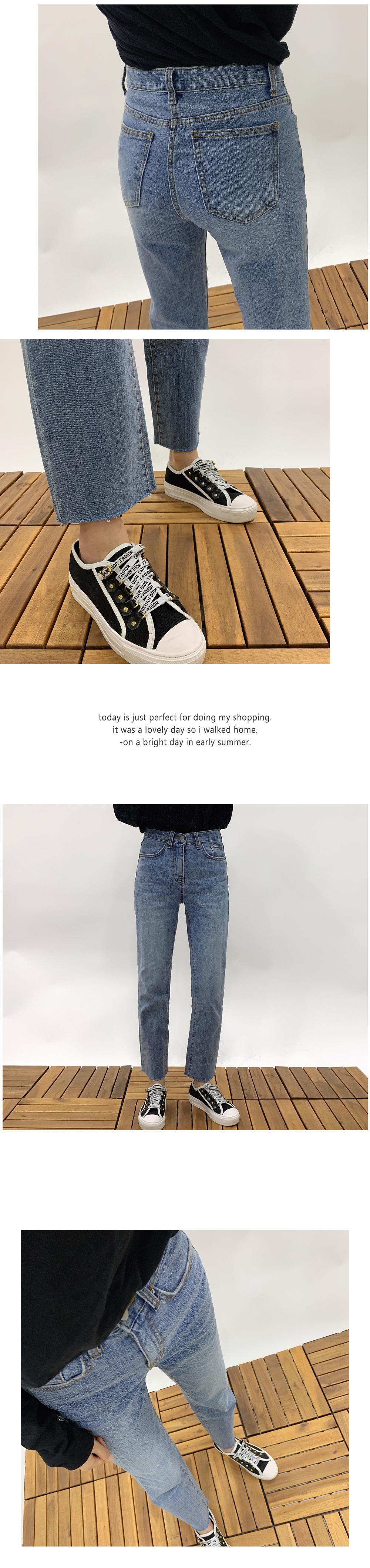 Cut Straight Fit Denim Pants P#YW321