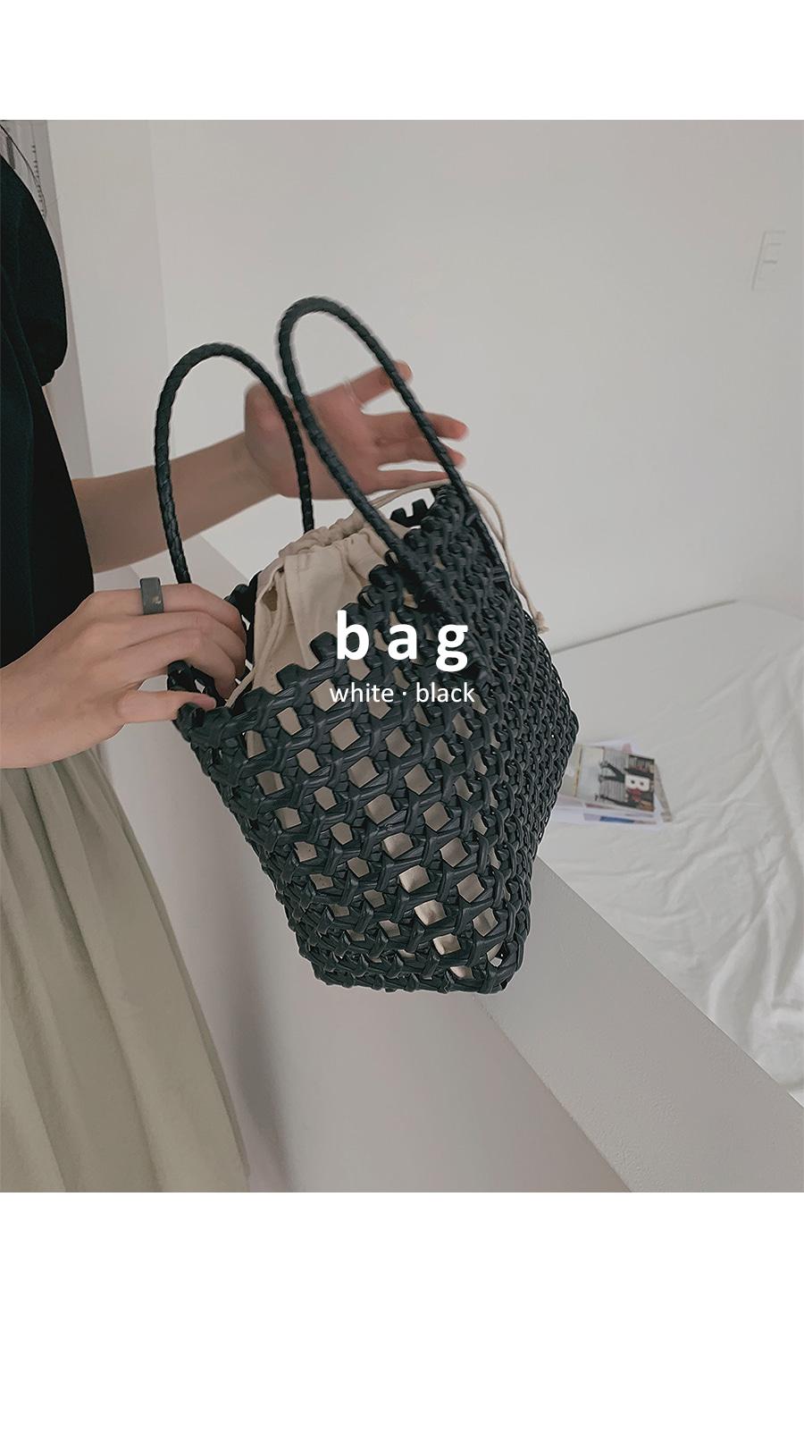 Weaving basket bag