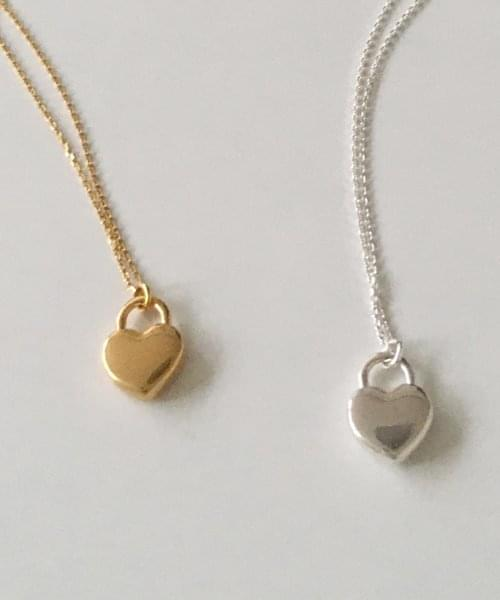 heart lock necklace necklace
