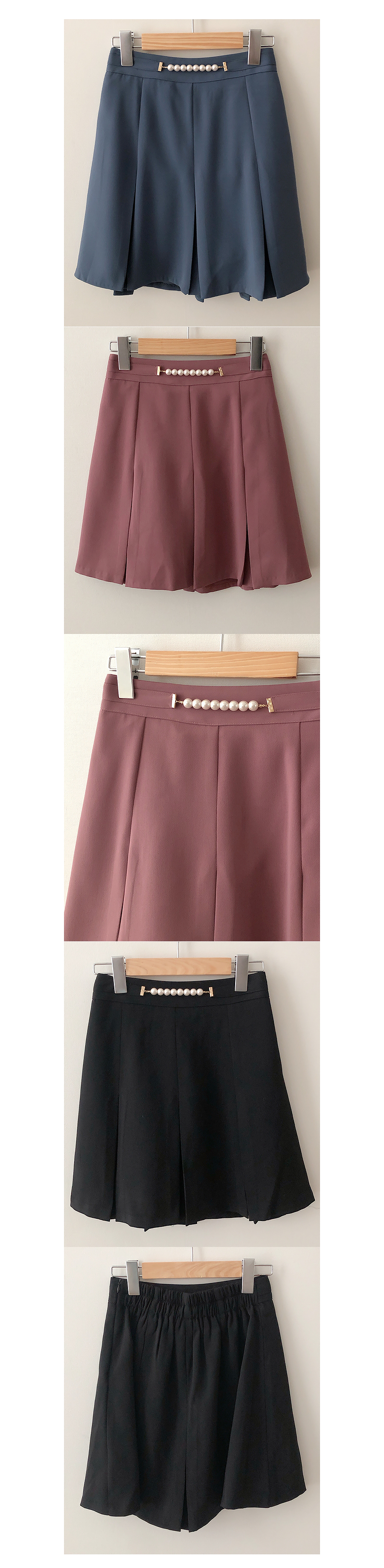 Honey Pearl Belt Skirt Pants