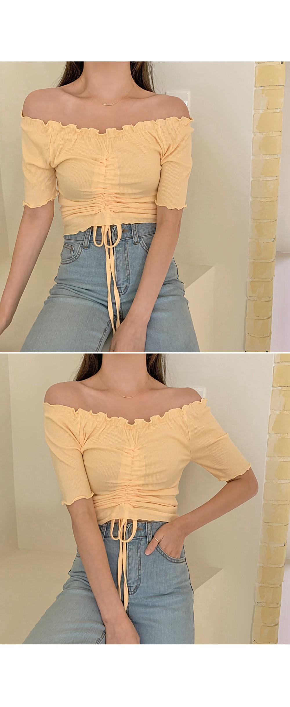 Goddess String Ruffle T Off Shoulder