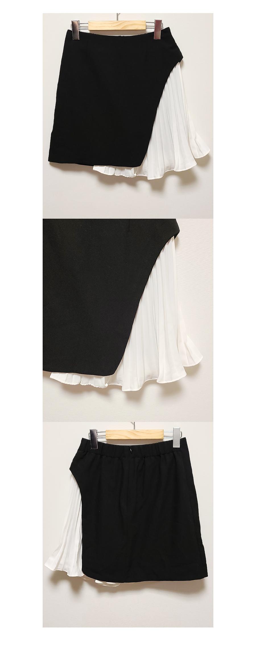 Natalie color pleated skirt