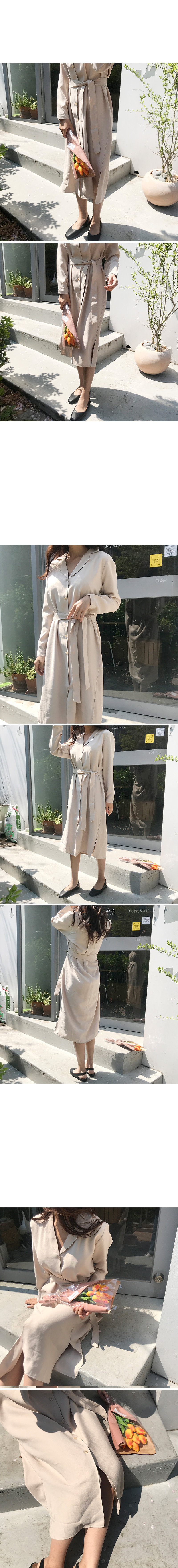 Spring collar dress