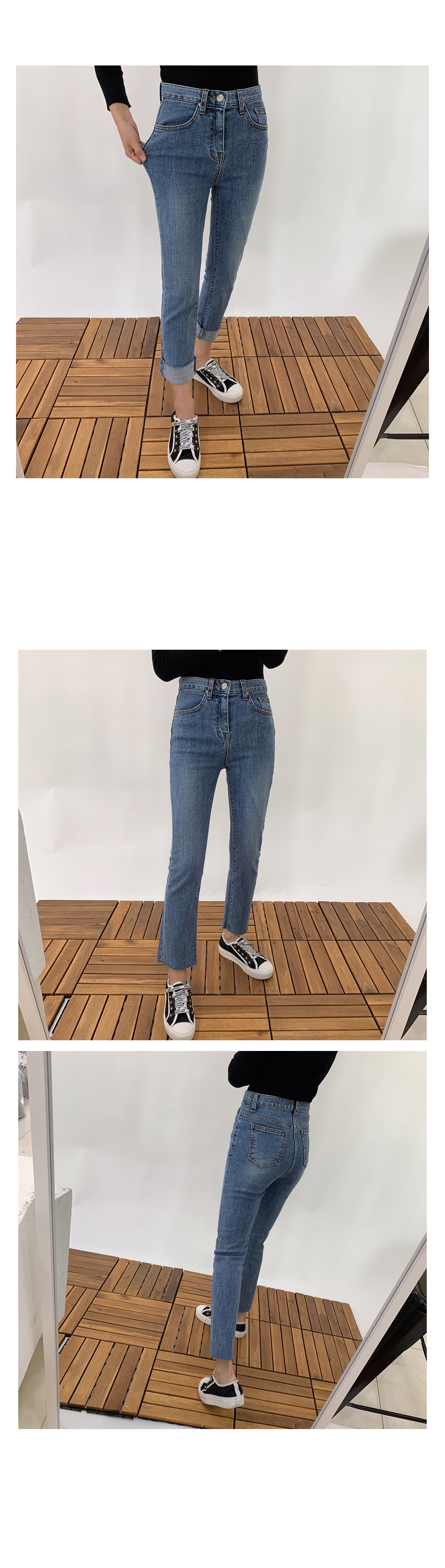 Straight Cut Denim Pants P#YW322