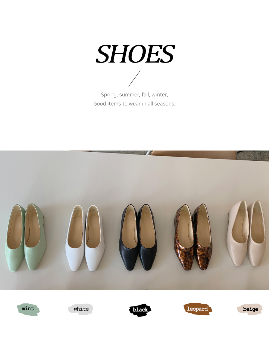 Modern flat shoes