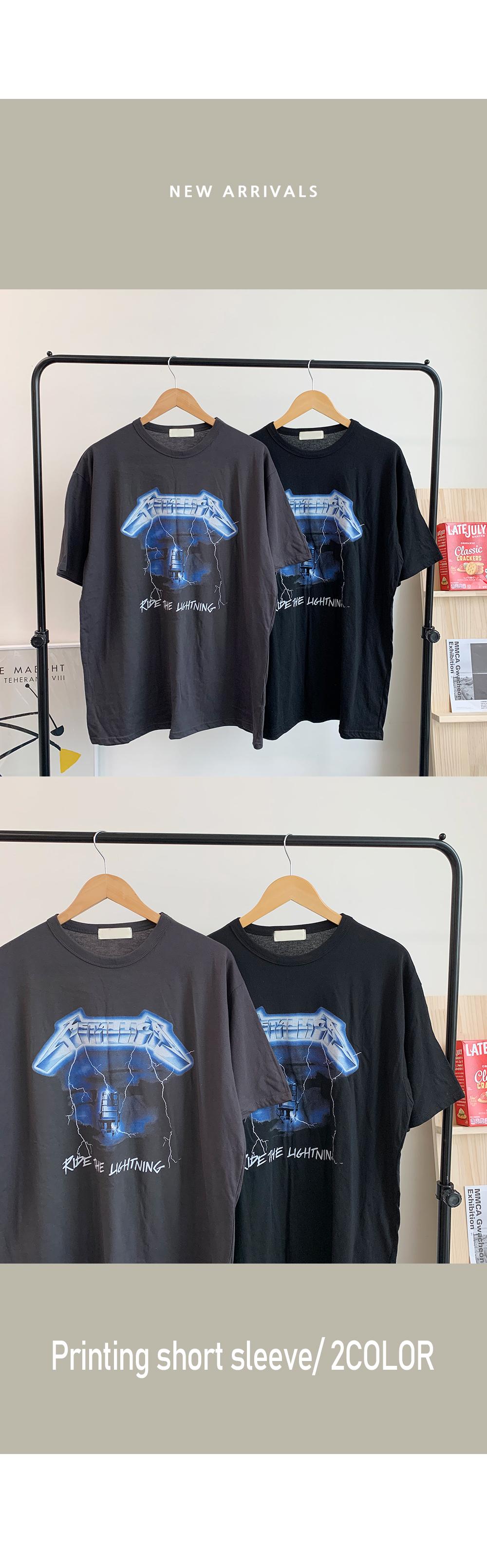 Metallica Printing Short Sleeve Tee