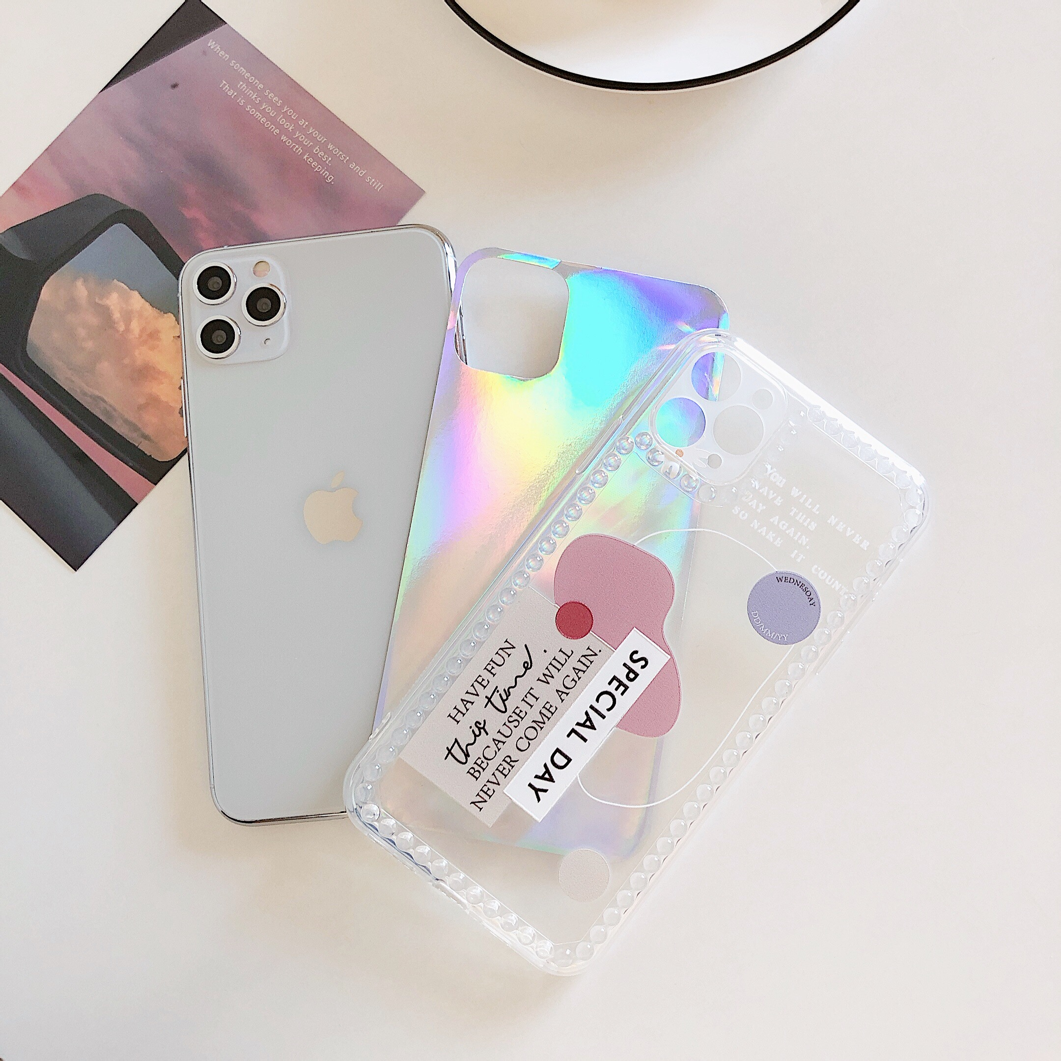 Hologram Patch Silicone Case