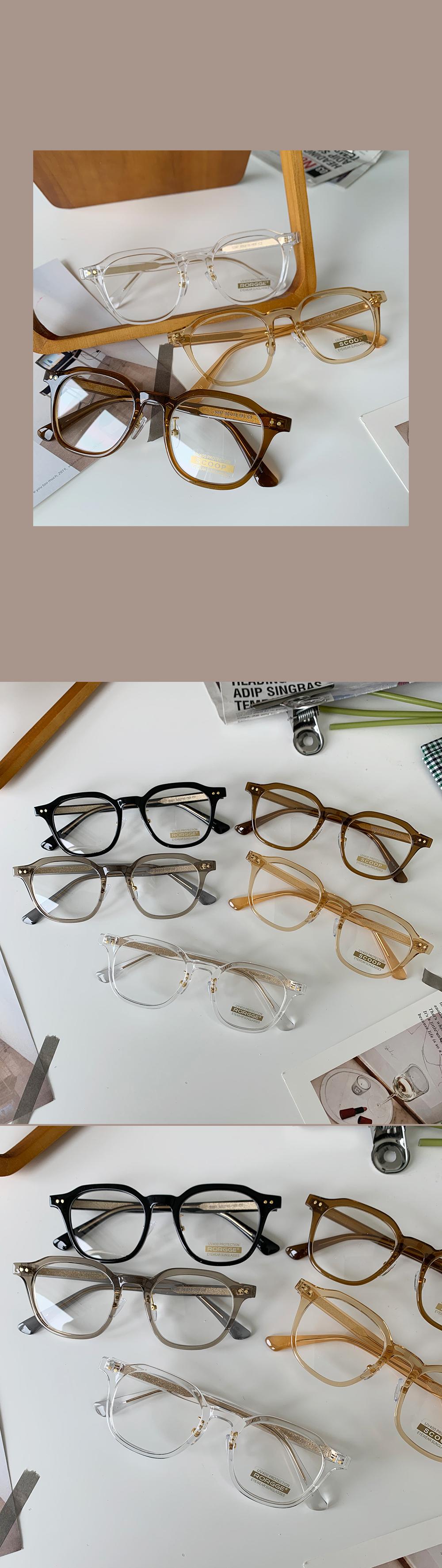 Transparent fashion glasses