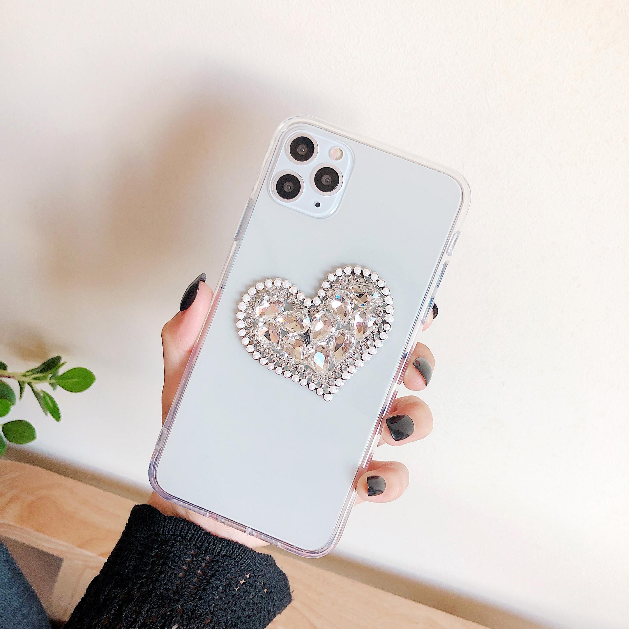 Transparent Heart Cubic Case