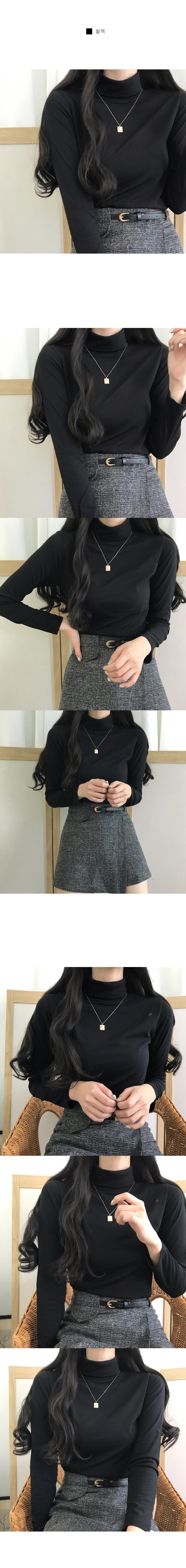 Basic neck polar inner T-shirt