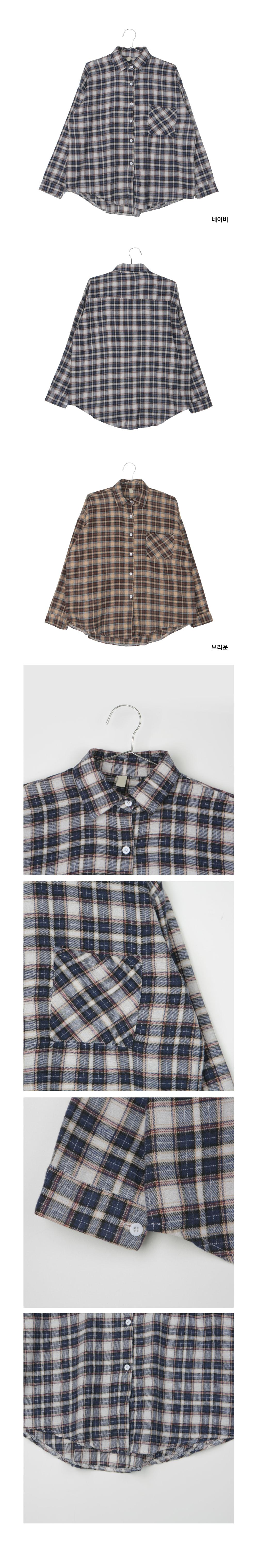 Brownie Check Shirt T#YW151