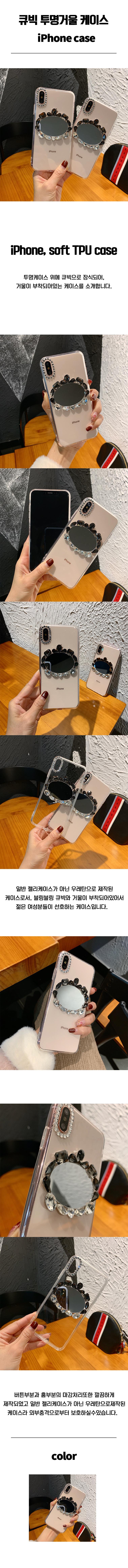 Cubic transparent mirror case