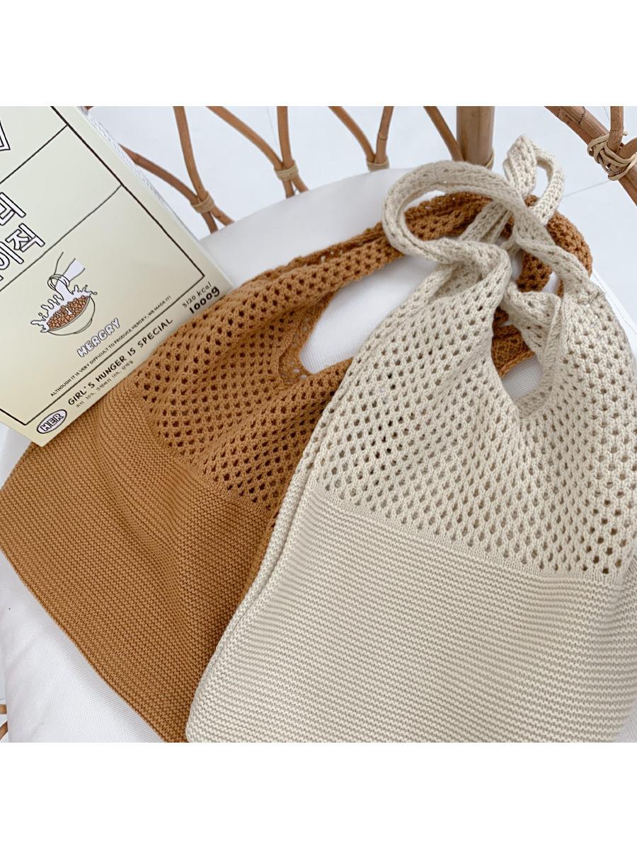 Fogny Punched Knit Shoulder Bag