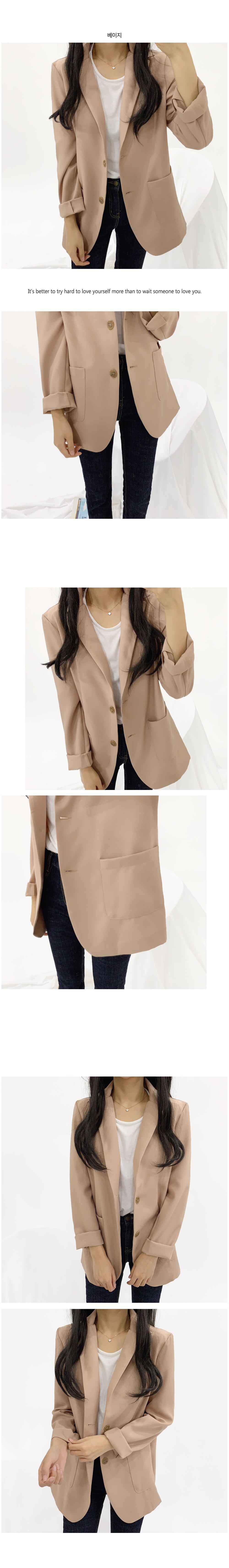 Round hem basic jacket O#YW305