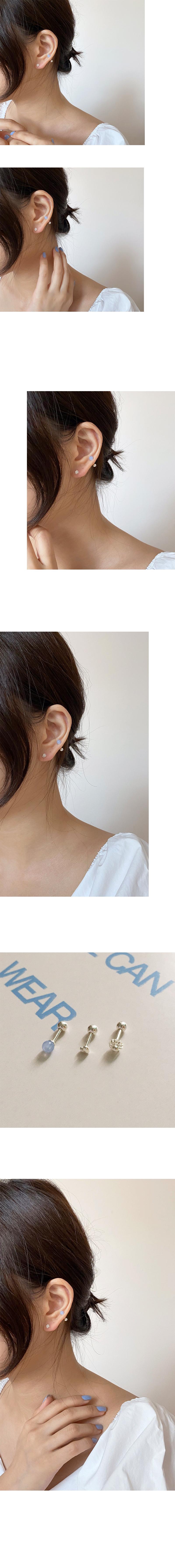 (silver925) skyblue piercing