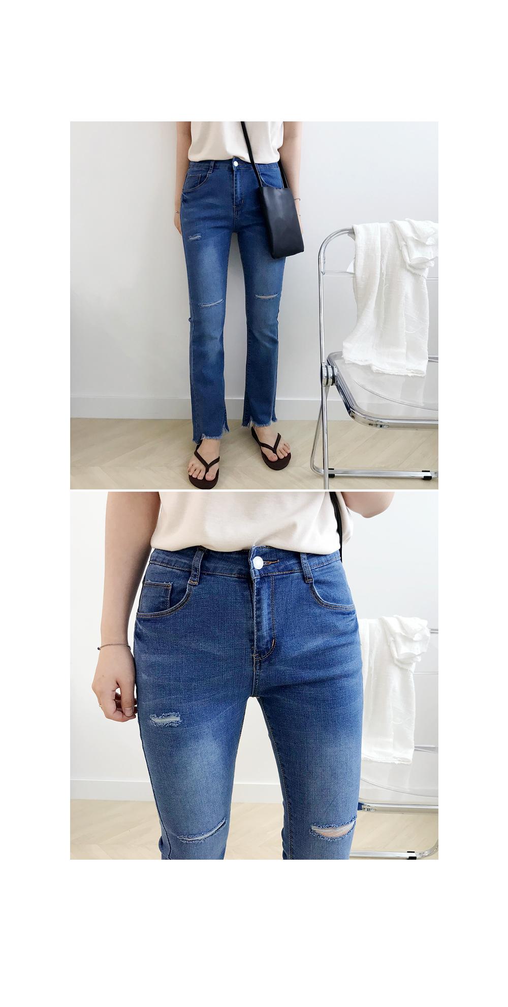 Viol Cut Blue Pants