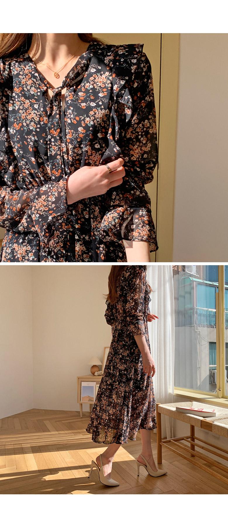 Camellia Flower Long Dress
